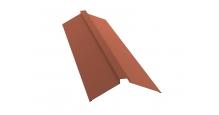 Коньки для кровли из металлочерепицы в Пензе Планка конька плоского 115х30х115