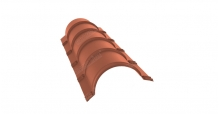 Коньки для кровли из металлочерепицы в Пензе Планка малого конька полукруглого